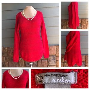 2/$28 New Directions Scoop-Neck, Long Sweater Sz L